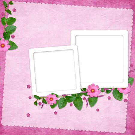 wedlock: Card for the holiday  with flowers on the abstract background