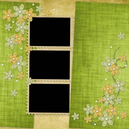 Vacances carte des fleurs et pearl sur le contexte abstrait