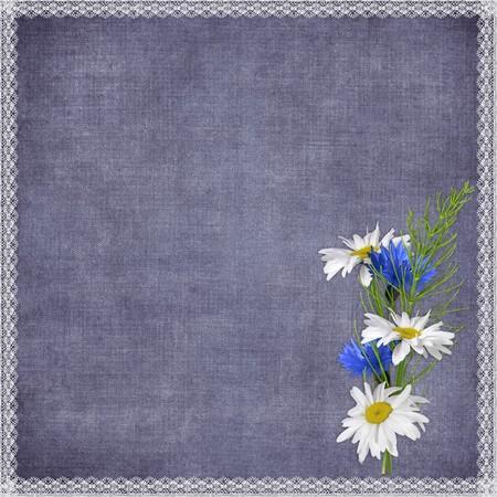 wedding photo frame: Carta per la vacanza con fiori sullo sfondo astratto  Archivio Fotografico