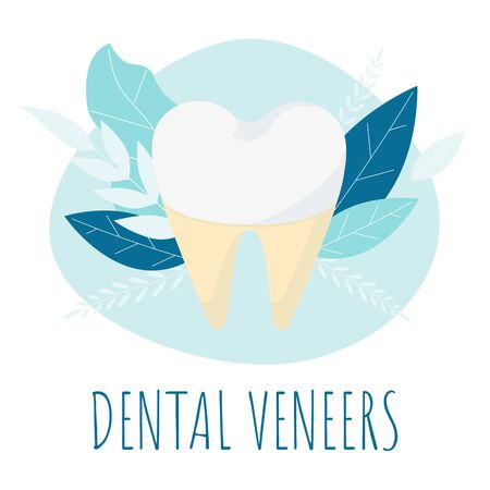 dental check up. Healthy tooth. Oral dental hygiene. Dental care Tooth vector Concept.