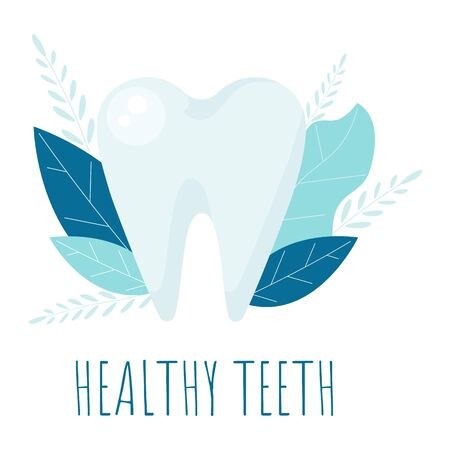Healthy tooth. Oral dental hygiene. Dental care Tooth vector Concept.