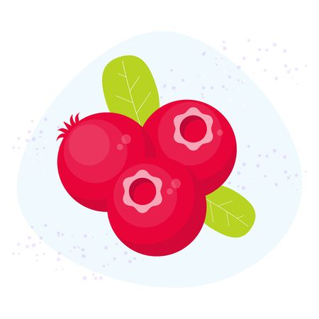 Vector cranberry icon. Flat cartoon berry illustration