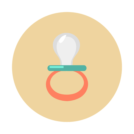 Baby pacifier vector icon.
