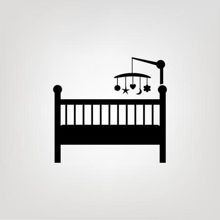 Baby crib icon Illusztráció