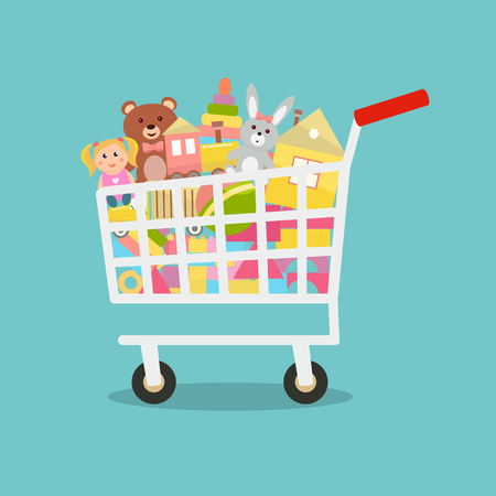 Toys in a cart