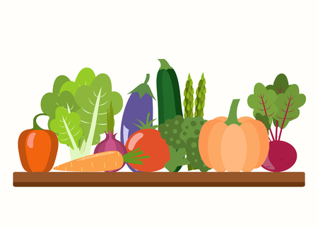 Vegetables vector illustration. Healthy lifestyle vector design