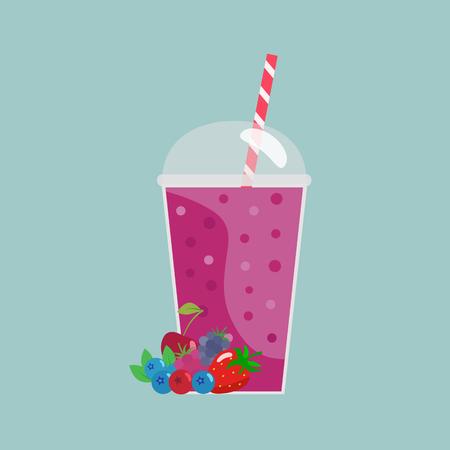 Berry smoothie Imagens - 90057417