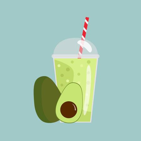 Avocado smoothie Illustration