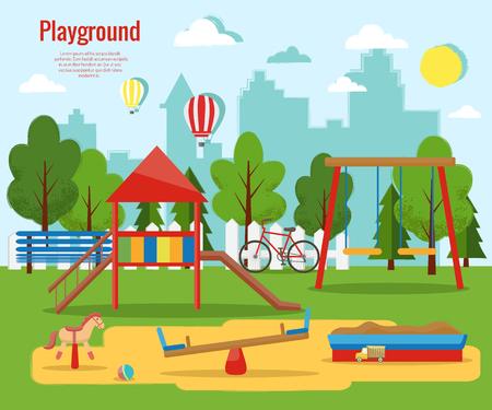 Playground vector illustration.