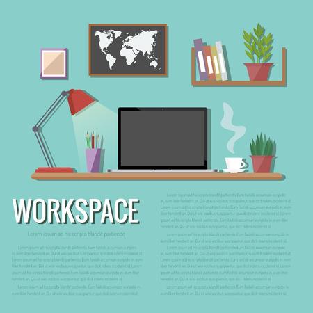 Workspace vector illustration.