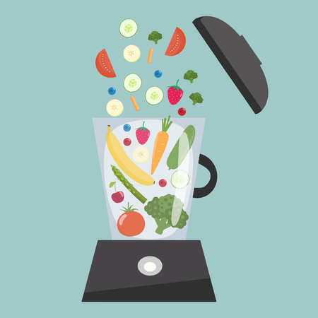 Food processor vector illustration