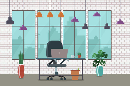 Working place, creative office. Vector illustration