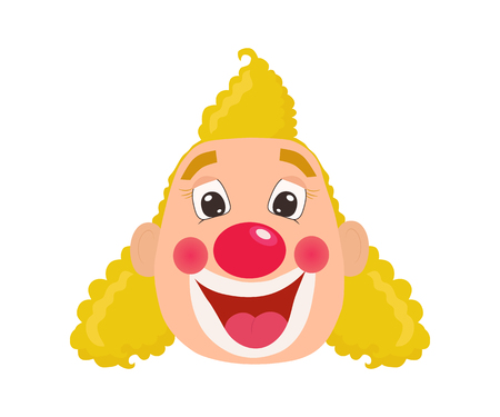 Cartoon clown face vector illustration.