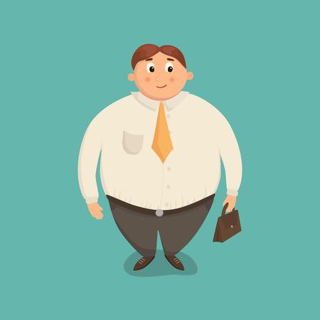 Fat business man vector illustration.