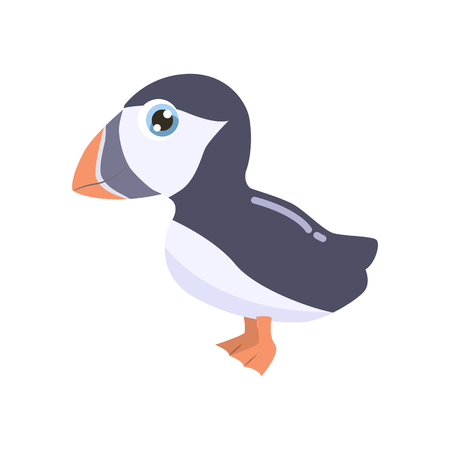 Cute cartoon puffin vector illustration. Banque d'images - 115047461