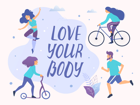 Love your body vector illustration.