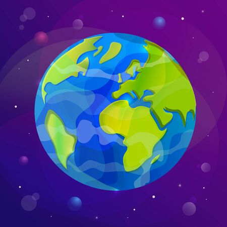 Vector illustration of Earth planet.