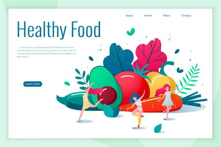 Concept of healthy eating, lifestyle vector illustration. Stock Illustratie