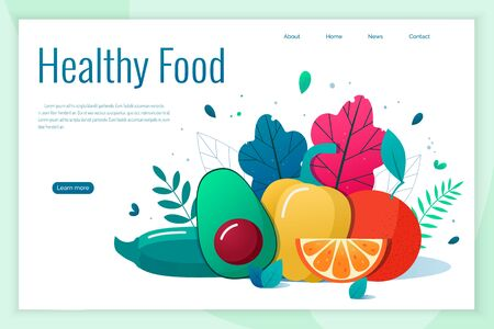 Concept of healthy eating, lifestyle vector illustration. 일러스트