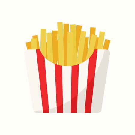 French fries vector illustration Imagens - 130023204
