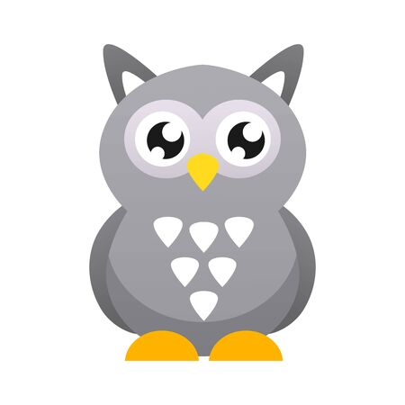 Cute owl vector illustration. Flat design