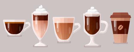 Coffee icons set vector illustration. 版權商用圖片 - 166224608