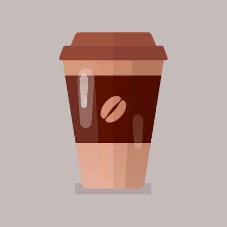 Coffee in paper cup icon vector illustration. 版權商用圖片 - 166224380