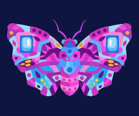 Moth vector illustration