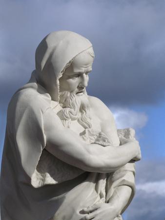 allegory: Oranienbaum garden statue of Allegory Winter in Lomonosov, near Saint-Petersburg
