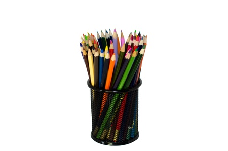 Isolate cup with pencils Stock Photo - 18116024