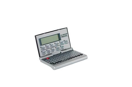 translator: Isolate electronic translator Stock Photo
