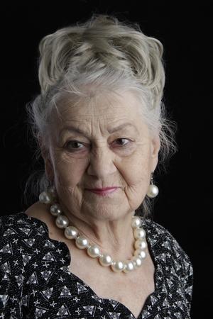 非常に古い女性。80 歳女性。老...