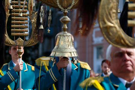 Belarus, Gomel, September 09, 2017. Celebrating the city day.Belarus, Gomel, September 09, 2017.Brass band Editöryel