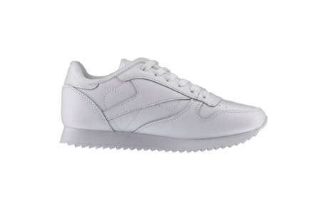 Sport shoes. White sneaker on a white background.