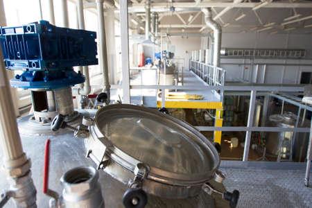 Belarus, the city of Mensk, April 12, 2019. Chemical production.Chemical production. Metal tanks for the production of acid