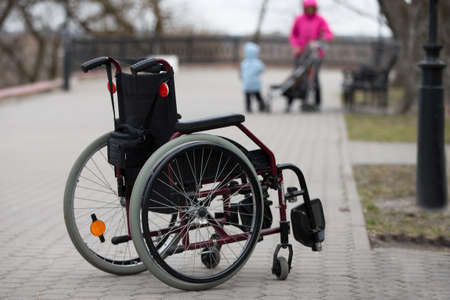 Wheelchair on the street