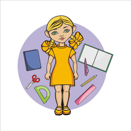first grader: the girl in the yellow