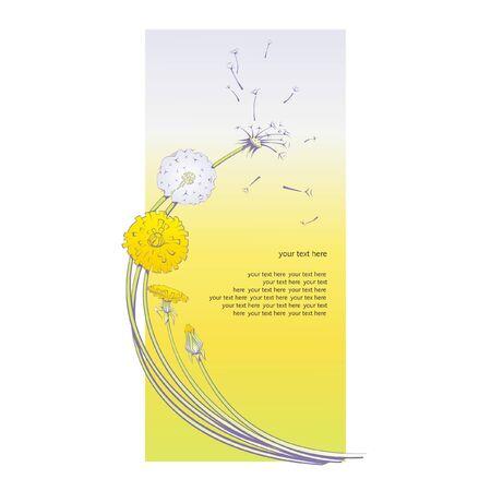 gentle color  dandelions Illustration