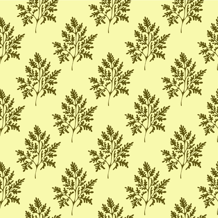 Seamless vector pattern with olive color. Endless ornament for ecological or vintage design Vettoriali