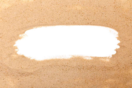 Sand Isolated on White Background. Copy Space For Your Text. Top View. Flat Lay.