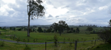 Australia   Victoria  Panorama of the farming fairytale land  photo