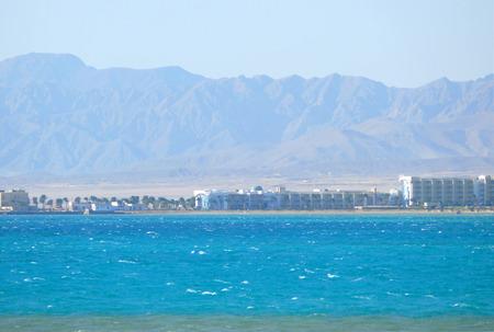Hurghada, Egypt - November 14, 2008: Hotels on the Red Sea coast.
