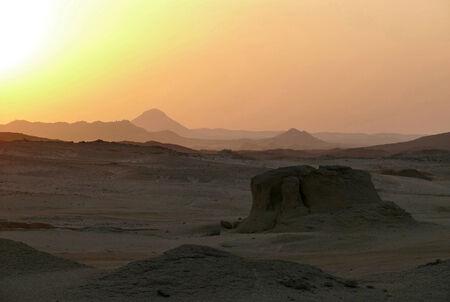 africa sunset: Africa. Tramonto nel deserto del Sahara. Archivio Fotografico