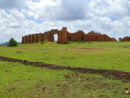 Ruins. Former defensive ancient fortification. Africa, Ethiopia. photo