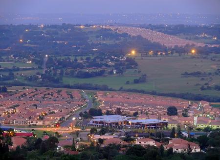 johannesburg: Johannesburg, South Africa, City life. Evening landscape African city.