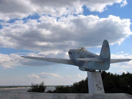 volgograd: Volgograd, Russia - August 19, 2005: the Statue of the aircraft on the square in Volgograd, Russia - August 19, 2005.