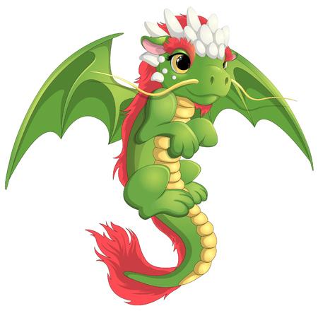 talisman: Hermoso dragón verde