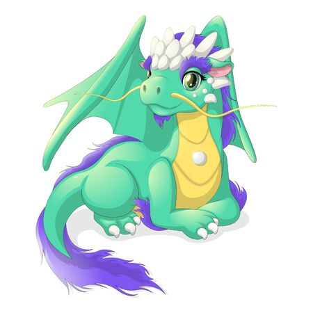 Pretty green dragon