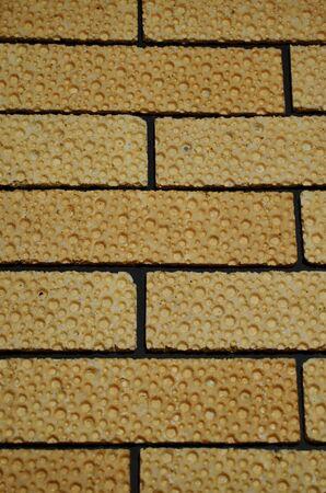 cereal waffle breads as a brick wall вертикальная orientation
