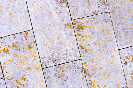 tile, marble, concrete aged texture. old, vintage purple, pink, Fortuna Gold background. gold with roughness and cracks. Imagens